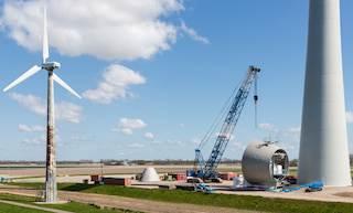 Couronnes en fonte pour les fondations d'éoliennes terrestres