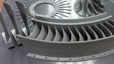 Static and rotary aircraft engine components (flow straightener and turbine blades) through DMLS process