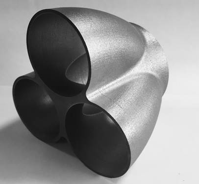 Inconel made collector for engine exhaust.