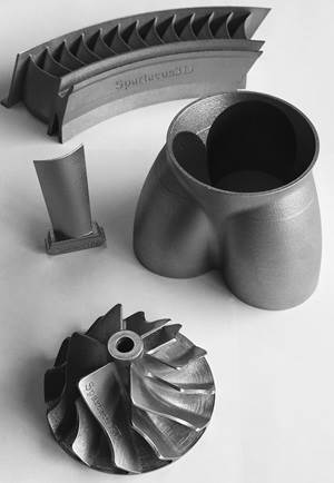Metal parts produced by DMLS